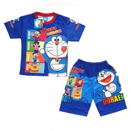 Kids Doraemon Top and Short Dress – A1932